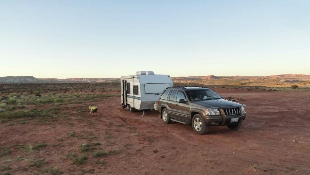 Nocleg na dziko w Utah, niedaleko Moab