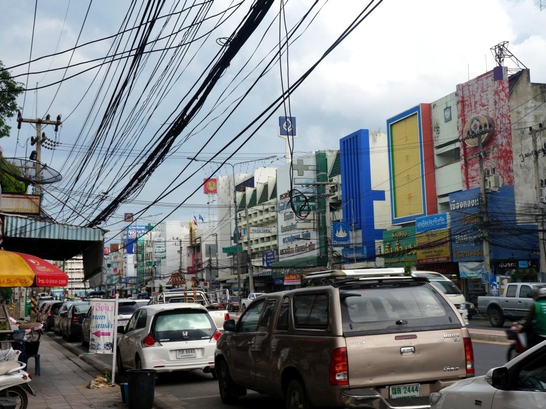 Ayutthaya i jej niezbyt urokliwe centrum