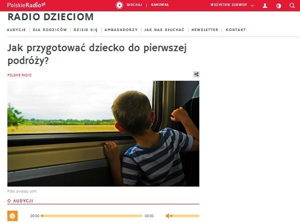 Polskie Radio Dzieciom: Jak przygotować dziecko do pierwszej podróży. Marzec 2016