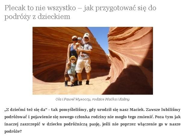 sportowarodzina.pl, osiem stóp o pakowaniu się przed podróżą z dzieckiem