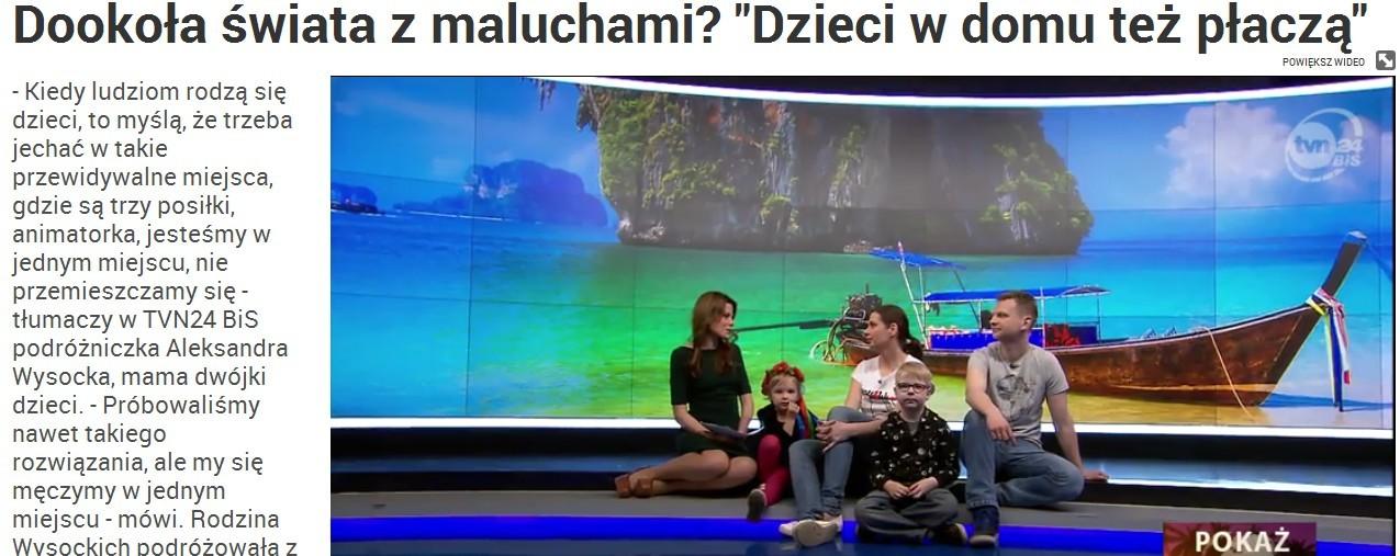 TVN24 bis, Dookoła świata z maluchami
