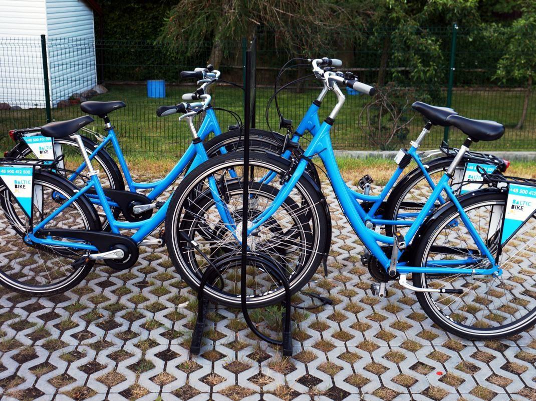 Wypożyczalnia rowerów w Rybaczówce. Karsibór