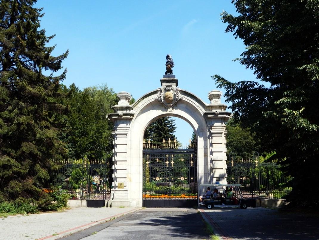 Brama do zoo w Parku Śląskim