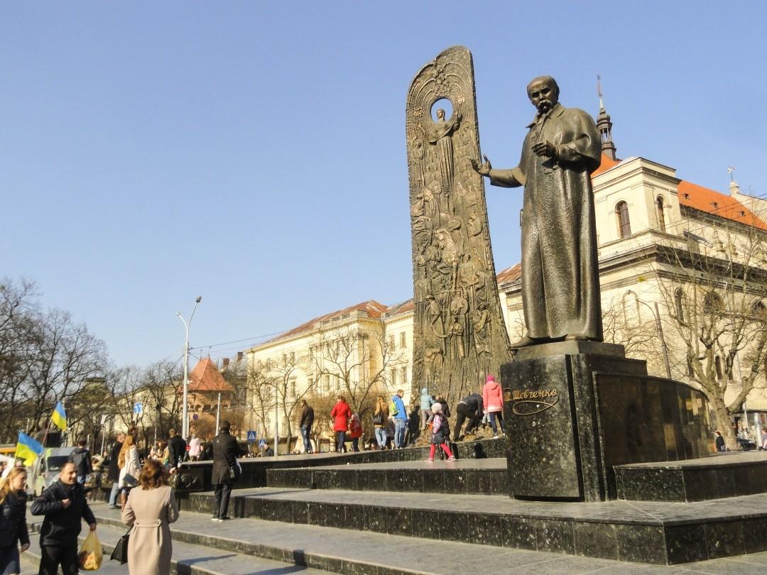 Lwów. Pomnik Tarasa Szewczenki