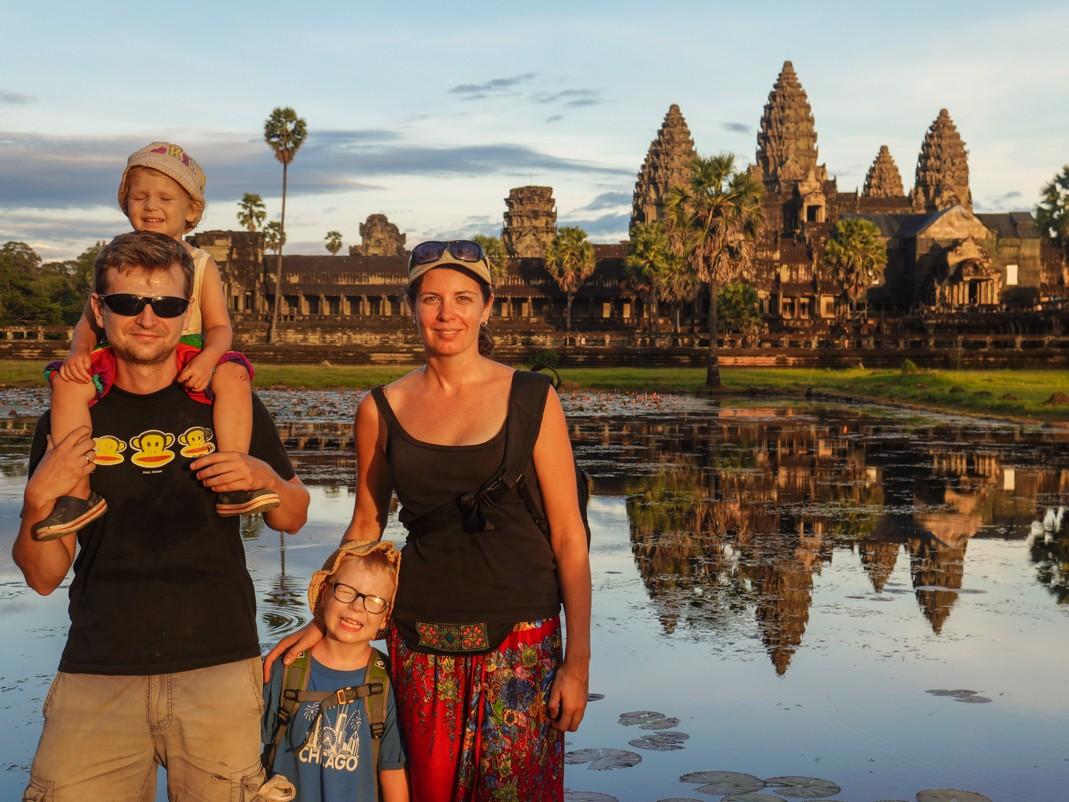 Rodzinnie w Angkor Wat