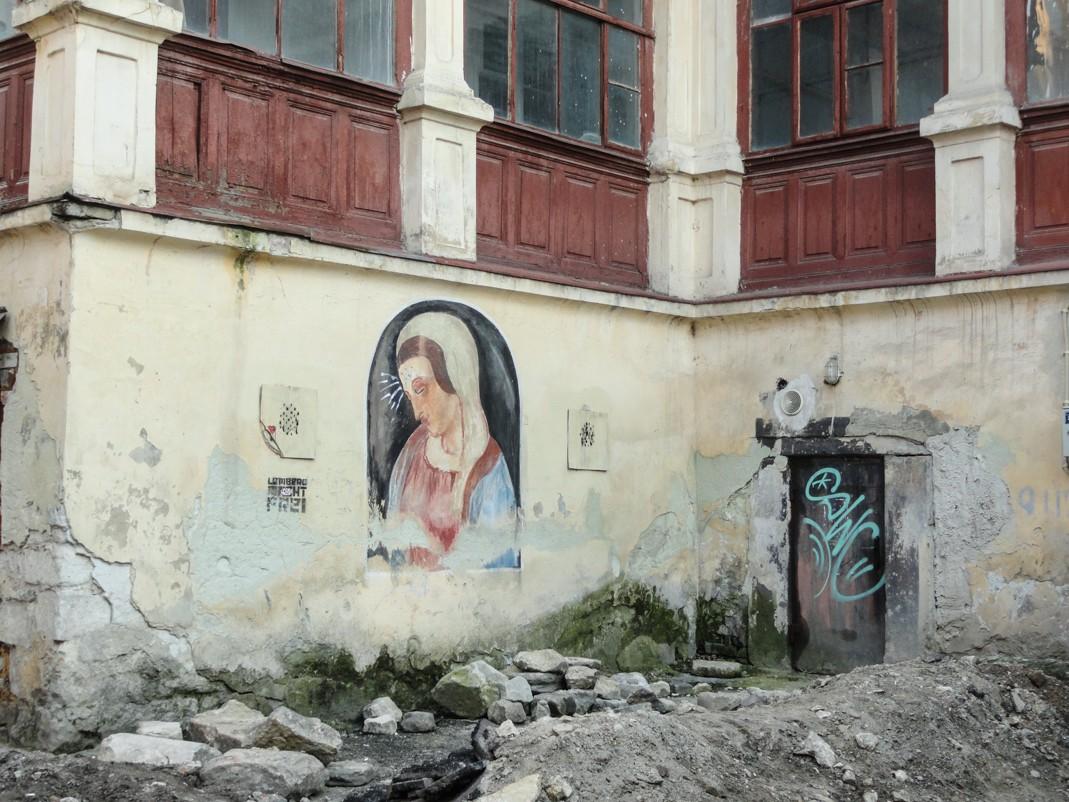 Na tyłach Katedry Ormiańskiej między ul. Ormiańską a Łesi Ukrainki
