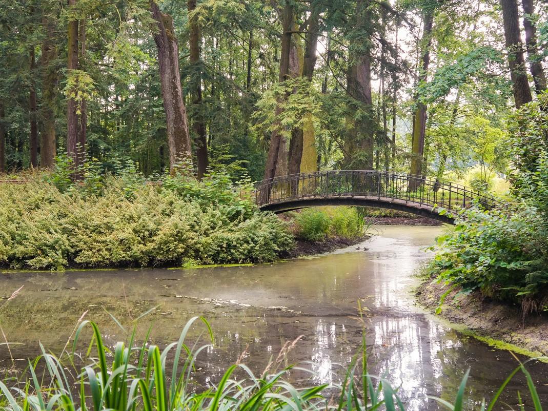 Zamek w Mosznej. Mostek w parku