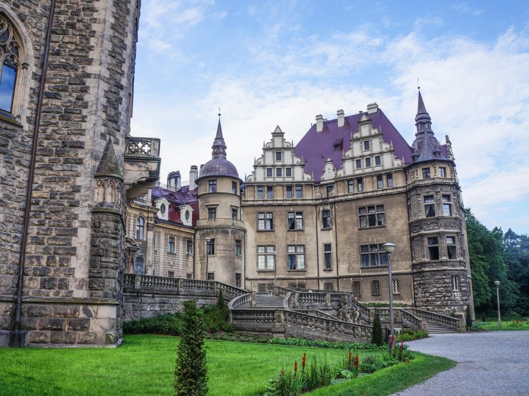 Zamek w Mosznej. Skrzydło zachodnie