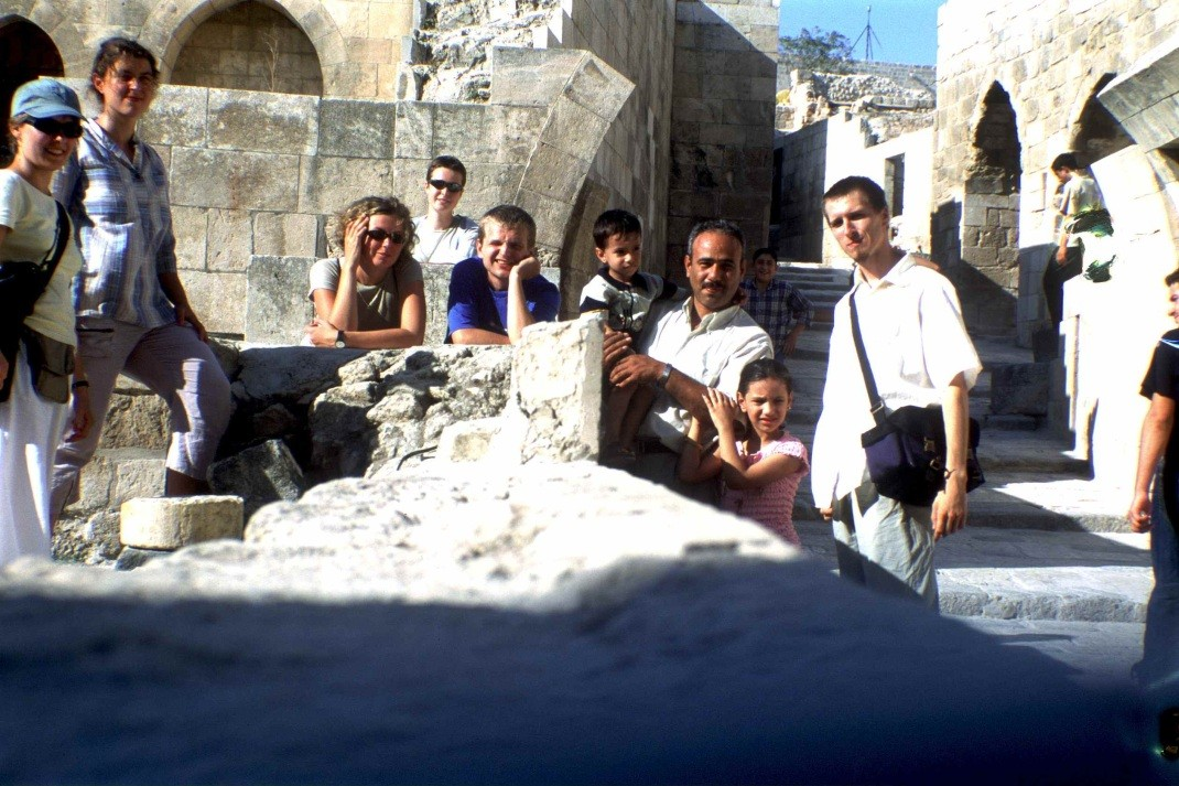 Turyści i miejscowi. Aleppo