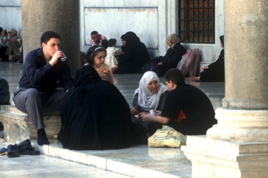 Mieszkańcy Aleppo. Wrzesień 2003. Fot. K. Wagner