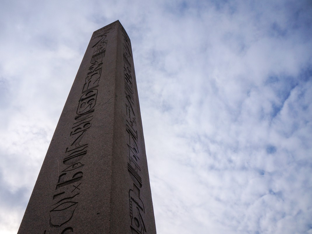Egipski obelisk na terenie dawnego hipodromu w Stambule