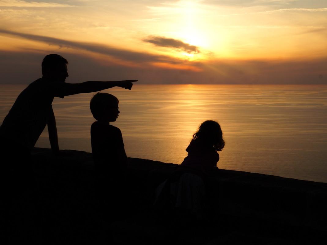 Kalabria. Zachód słońca
