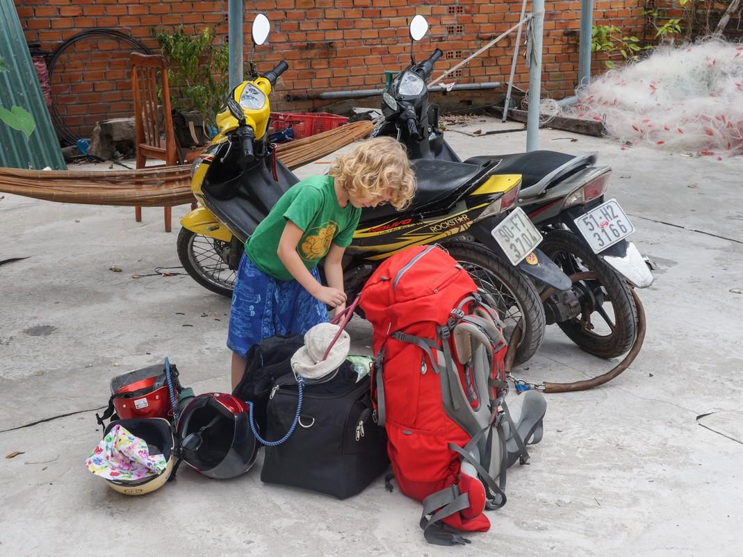 Bagaże skuter wietnam