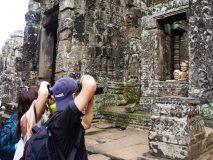 Gwiazdy obiektywu w Angkor Wat