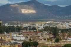 Shacolas Tower: widok na kamienną flagę Północnego Cypru