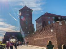 Wchodząc na Wawel