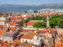 Split. Panorama z dzwonnicy katedry