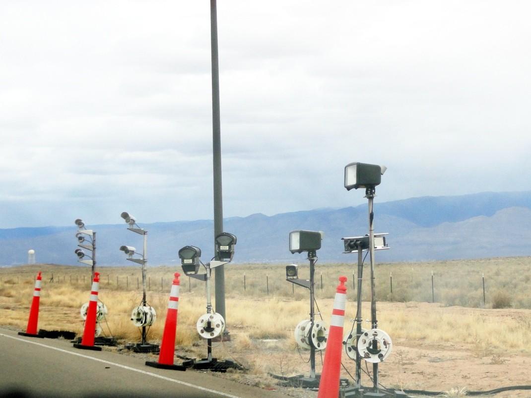 Posterunek w Nowym Meksyku niedaleko granicy