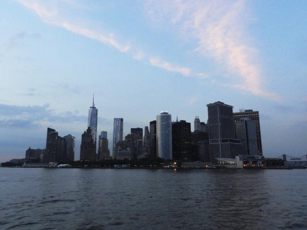 Manhattan. Widok z promu na Staten Island