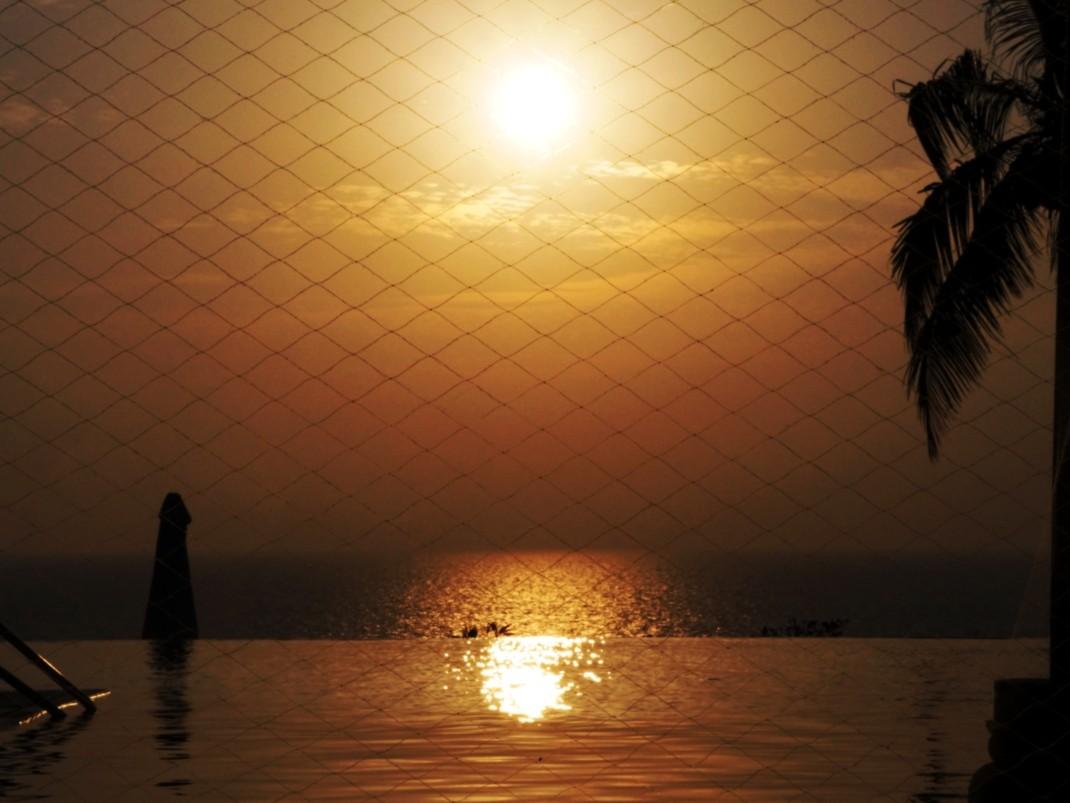 Zachód słońca w Leela