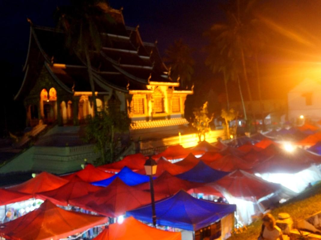 Bazar w Luang Prabang