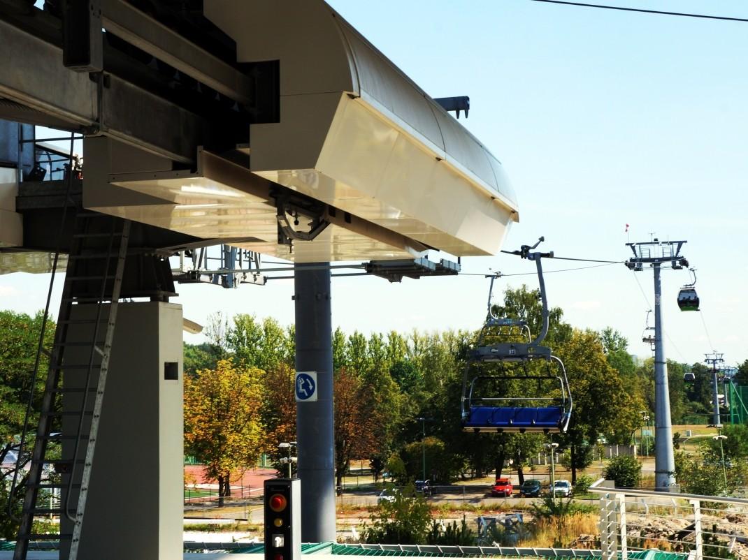 Park Śląski - kolejka linowa