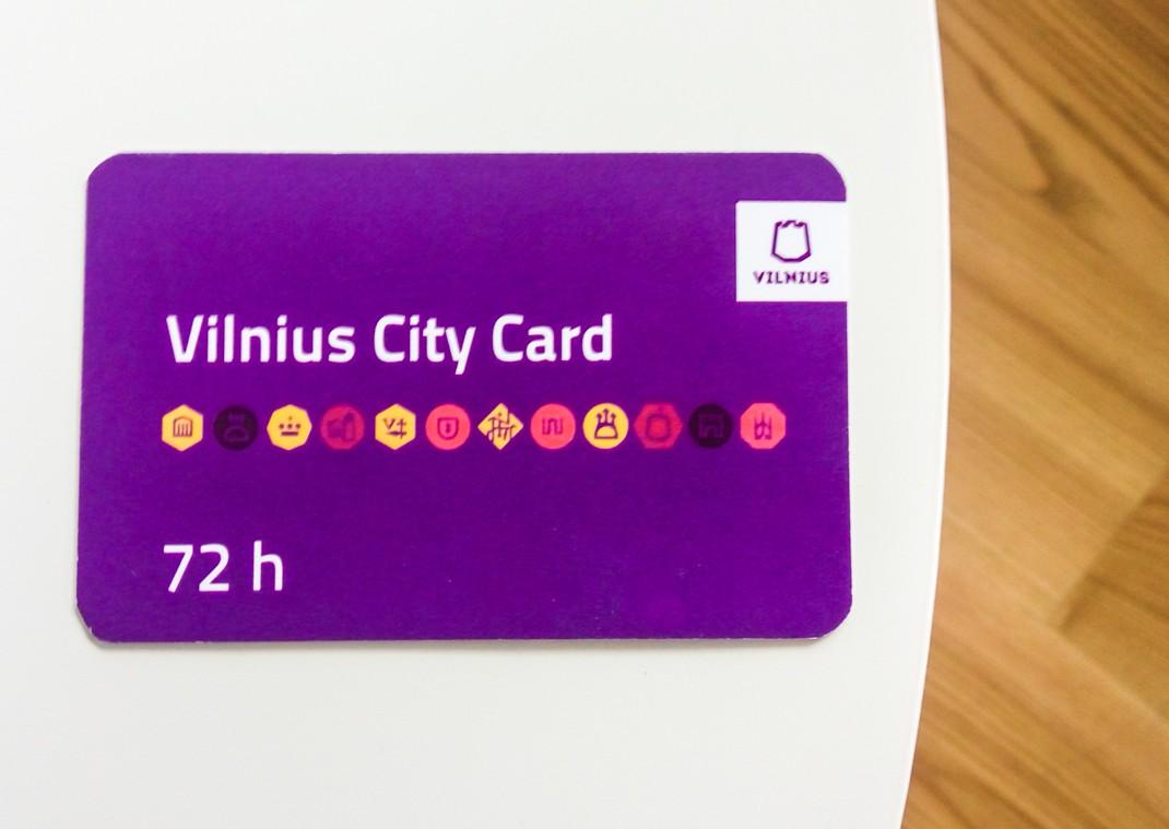 Wileńska karta miejska. 72-godzinna karta turystyczna