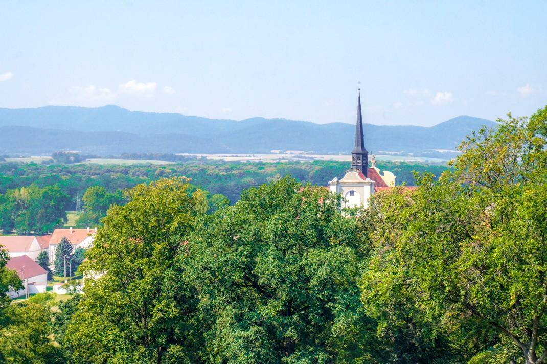 Pałac Marianny Orańskiej w Kamieńcu Ząbkowckim. Widok z tarasu
