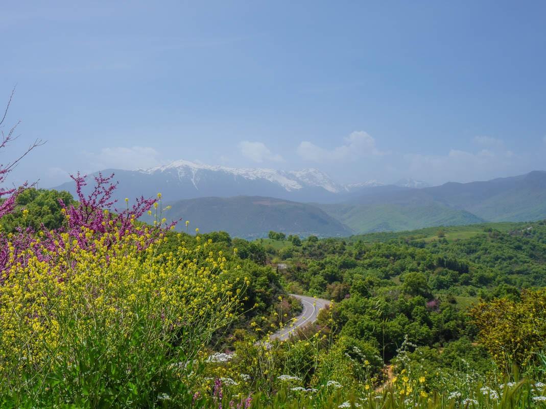 Grecja, droga przez góry