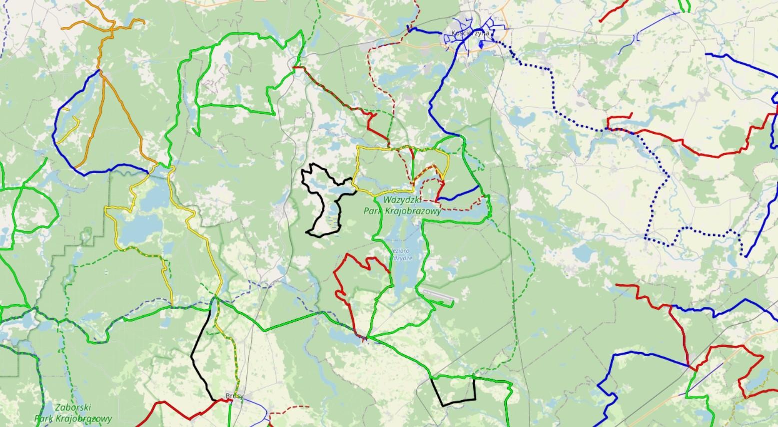 Szlaki we Wdzydzkim Parku Krajobrazowym