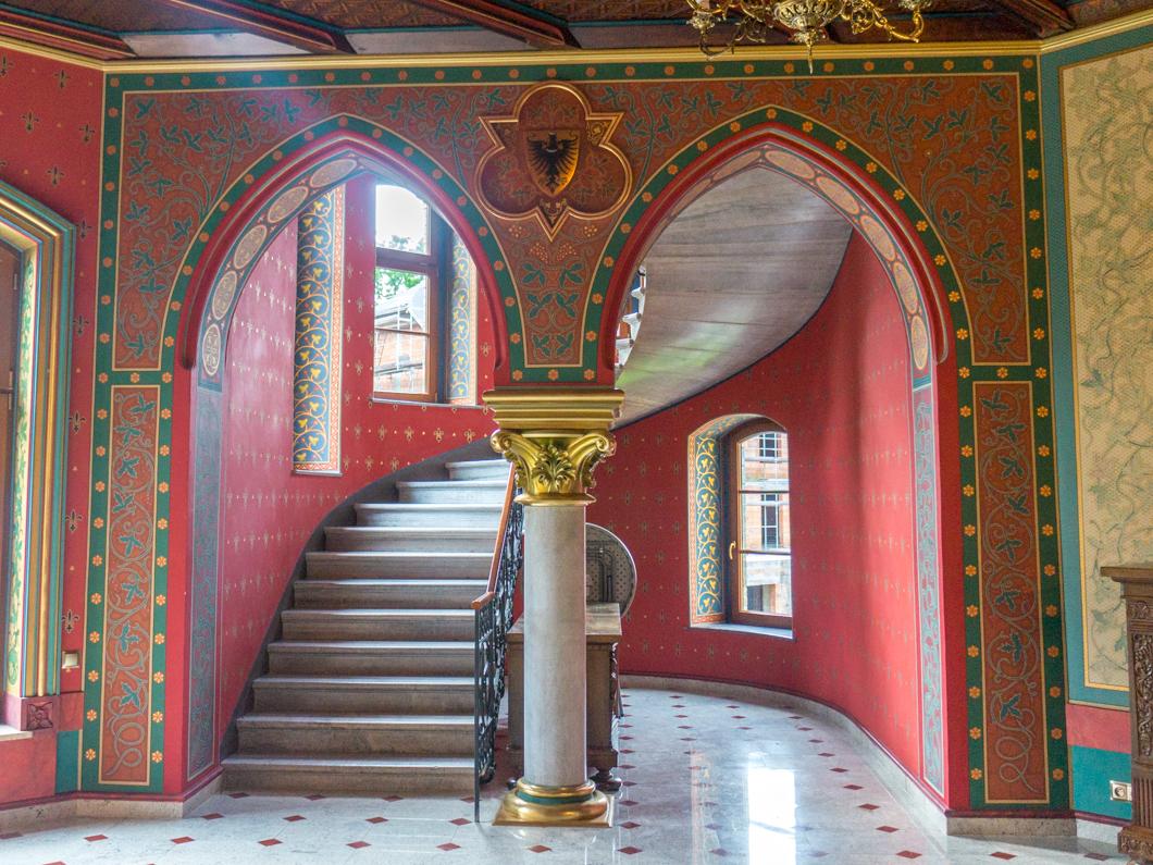 Pałac w Większycach. Klatka schodowa