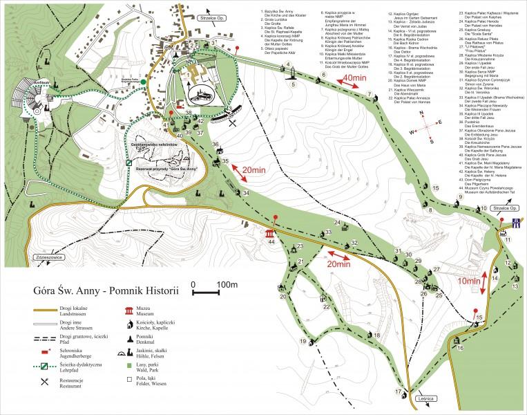 Plan Góry Świętej Anny